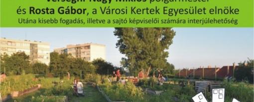 Meghívó a szentendrei Szélrózsa kert megnyitó ünnepségére