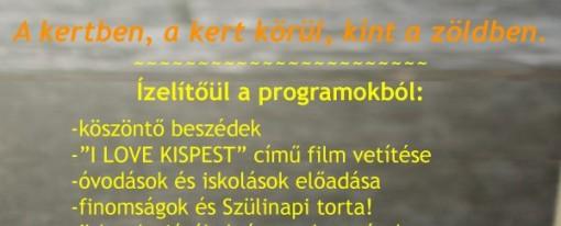Öt éves lett az Első Kis-Pesti Kert – születésnapi parti 2017. május 27. 15 óra