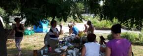 Kerti parti a Békási kertben