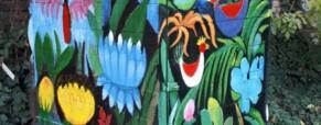 Szerszámtároló festése, Zápor kert