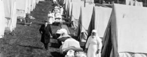 Szabad levegő terápia 1918-ból.